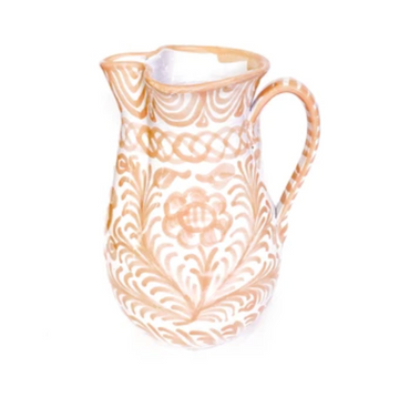 Handpainted Spanish Pitcher, Peach- Medium