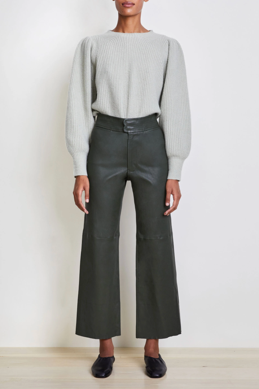 Monterey Leather Pant, Forest