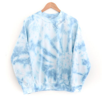 Kids Tie-Dye Sweatshirt, Blue