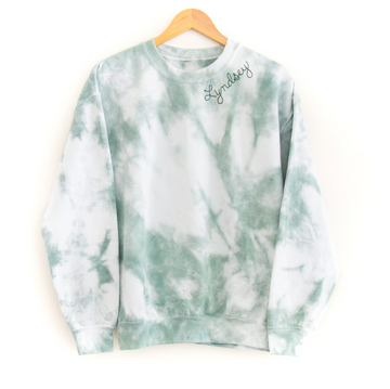 Kids Tie-Dye Sweatshirt, Green