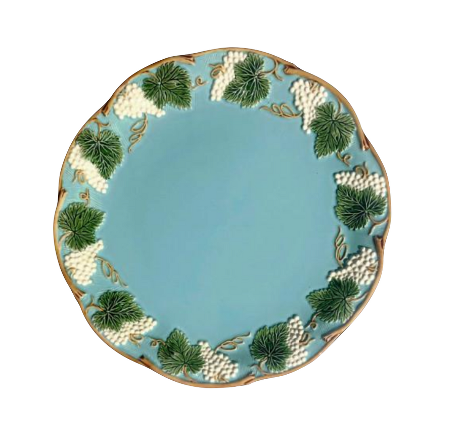 French Turquoise Dinner Plate
