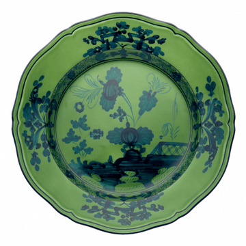 Oriente Italiano Dinner Plate, Malachite