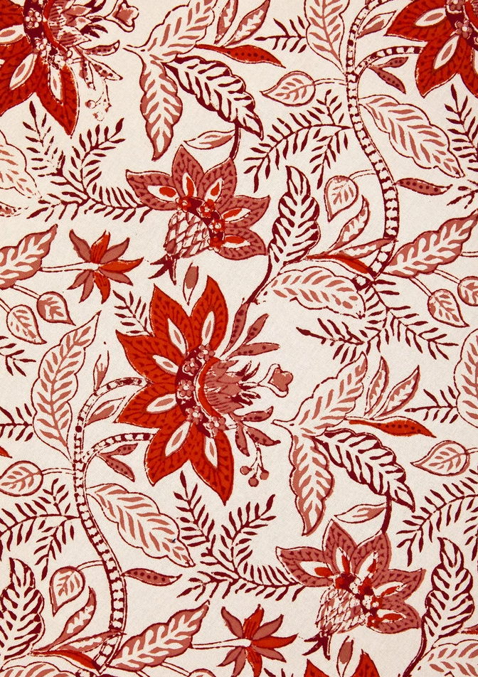 Blooms Tablecloth, Scarlett x Cream