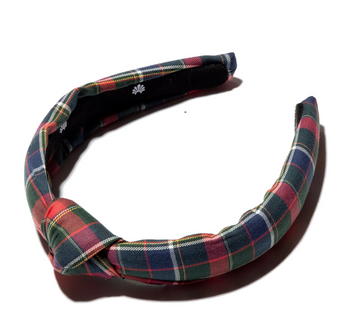 Red Plaid Knotted Headband, Kids