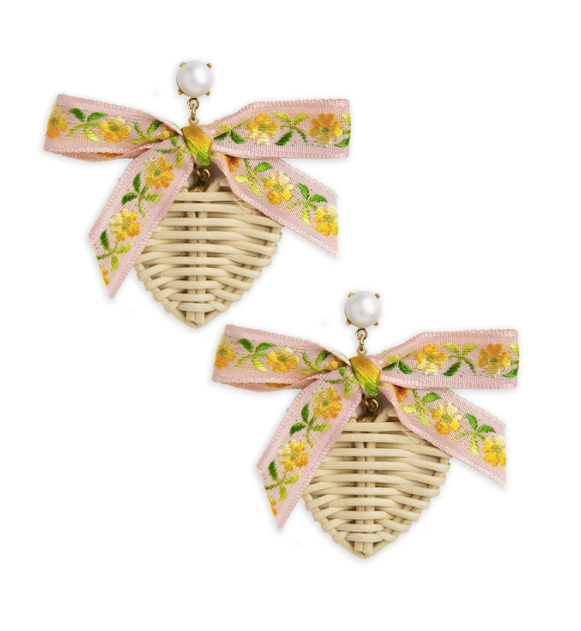 Eloise Ribbon Rattan Hearts