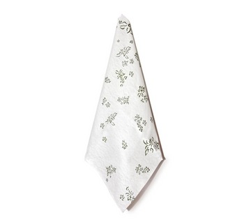 Falling Flower Paper Napkins, Green (Set of 12)