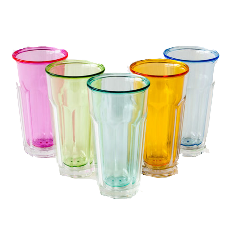 Double Wall Colored Glassware