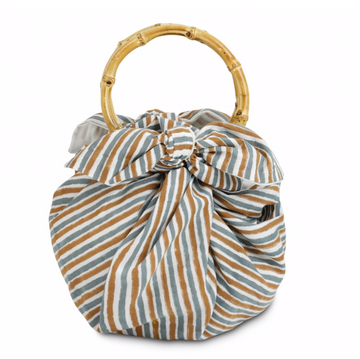Knotted Dumpling Bag, Stripe