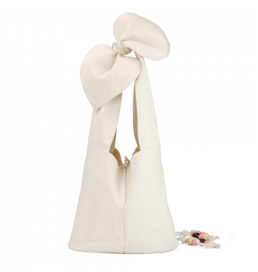 Creamy Funky Knot Bag, White