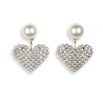 Valentine Earring, Silver