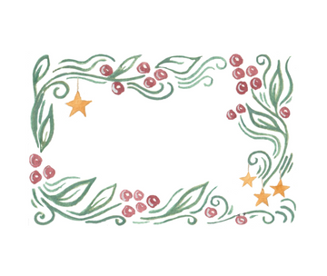 Stars & Holly Place Cards