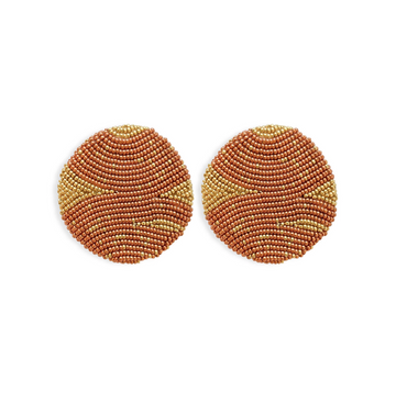 Movonda Earrings, Copper x Gold
