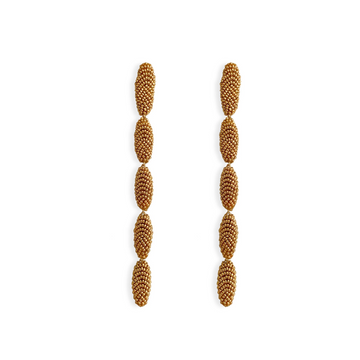 Cactus Drop Earring, Gold