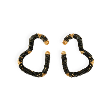 Visalva Earrings, Green Black
