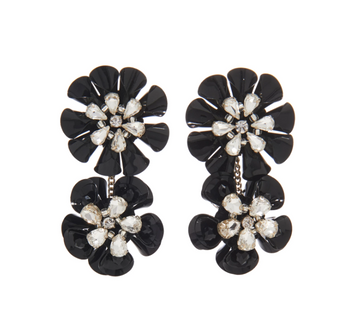 Karolina Earrings, Black