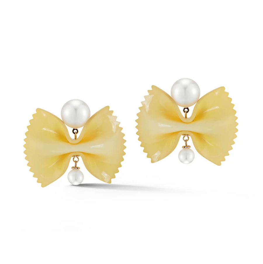 Farfalle & Pearl Earrings