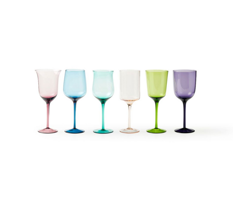 Long Stem Wine Goblet, Multi
