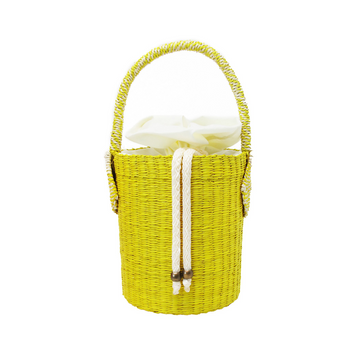 Yellow Seashell Bucket Mini Bag