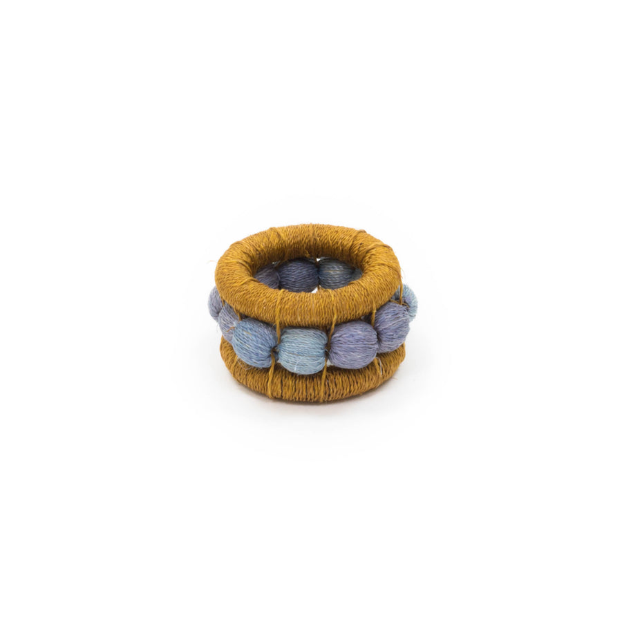 Sisal Berry Napkin Ring, Ochre x Smoke
