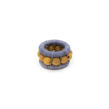 Sisal Berry Napkin Ring, Smoke x Ochre