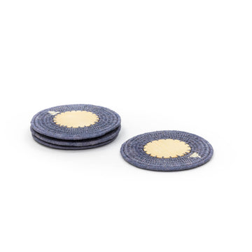 Sisal & Wood Coaster, Smoke