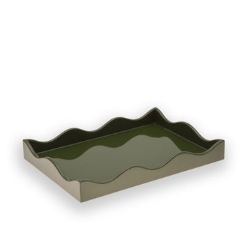 Small Belles Rives Tray, Olive