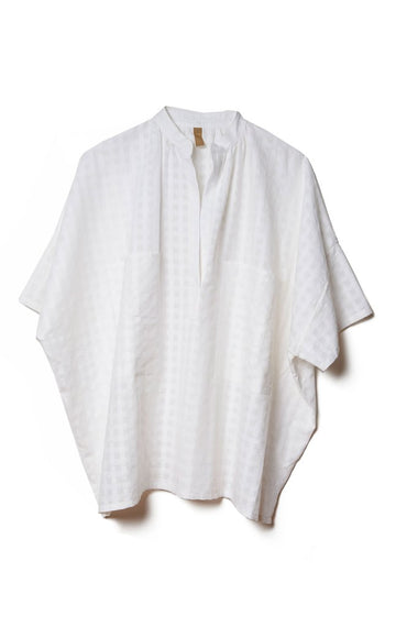 Grid Pocket Shirt, White