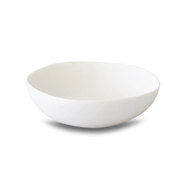 Wide Salad Bowl, White