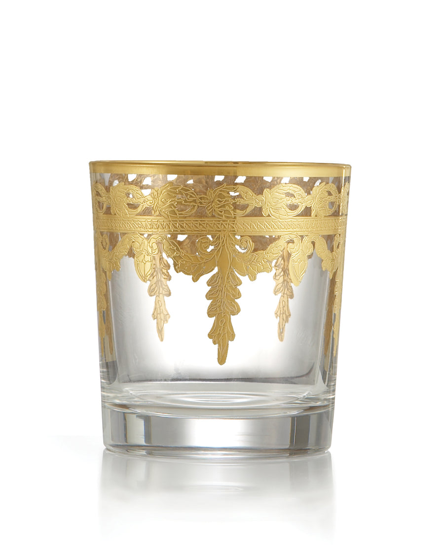 Vetro Gold Double Old  Fashioned Glass