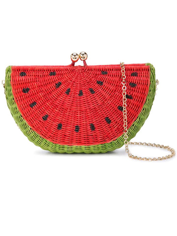 Marie Watermelon Clutch