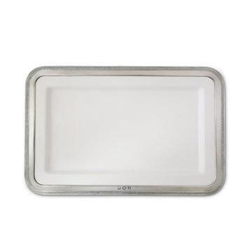 Pewter Luisa Rectangle Platter Medium