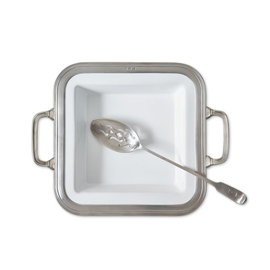 Pewter Gianna Square Serving Dish w/Handles