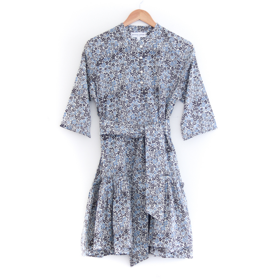 Katte Mini Dress, Blue Floral