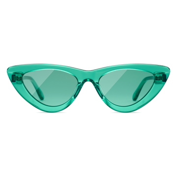 Aqua Cateye Sunglasses