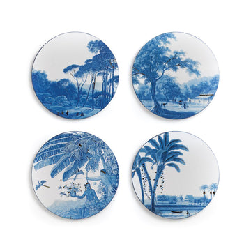 Blue Landscape Coasters, Set of Four