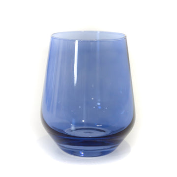 Blue Stemless Wineglass (Set of 2)