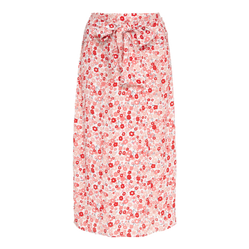 Summer Bow Skirt, Red x Pink