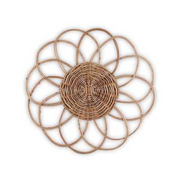 Woven Bloom Placemat, Natural