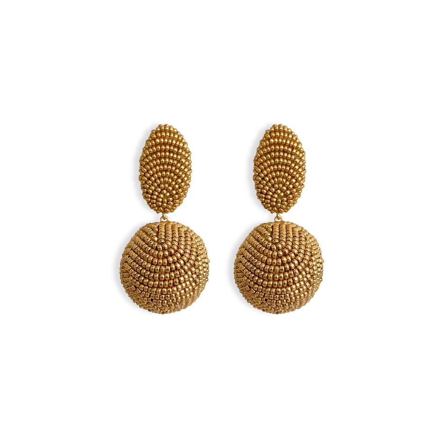 Conte Drop Earring, Gold