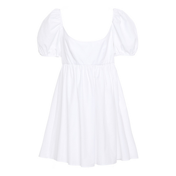 Delfina Dress, White Cotton
