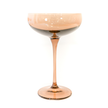 Champagne Coupe (Set of 2), Amber Smoke