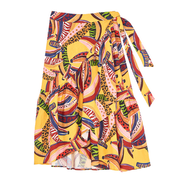 Multi Banana Midi Skirt