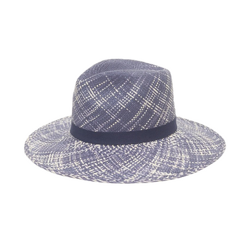 Clary Straw Hat, Navy x Natural