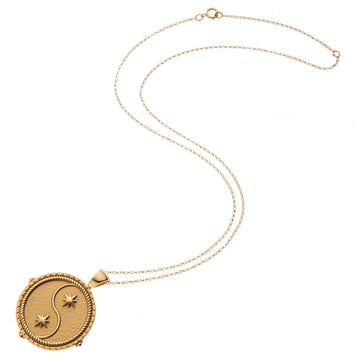 Zodiac Pendant Coin Necklace