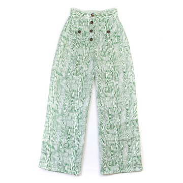 Woodgrain Jade Pant, Green