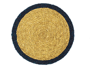 Rattan Border Placemat, Navy