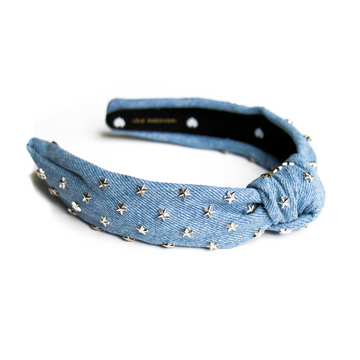Light Denim Star Headband
