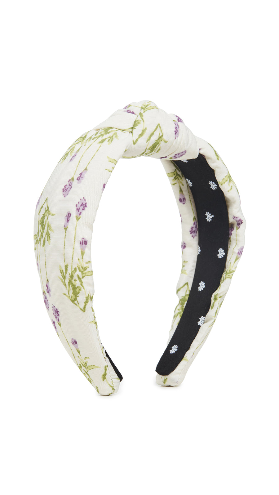 Floral Knotted Headband, Ivory Petunia
