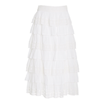 Borneo Skirt, Antique White