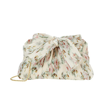 Rayne Dune Bow Clutch, Cream Floral